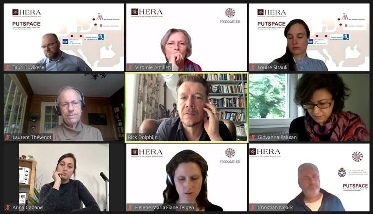 screenshot from Zoom showing the panellists's headshots in a grid