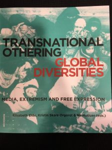 front page of Transnational Othering, Global Diversities. Media, Extremism and Free Expression.   blurry picture of children and women in burkas.