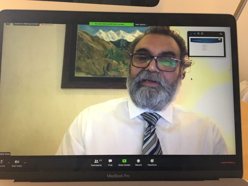 screenshot of Prof. Altaf Khan