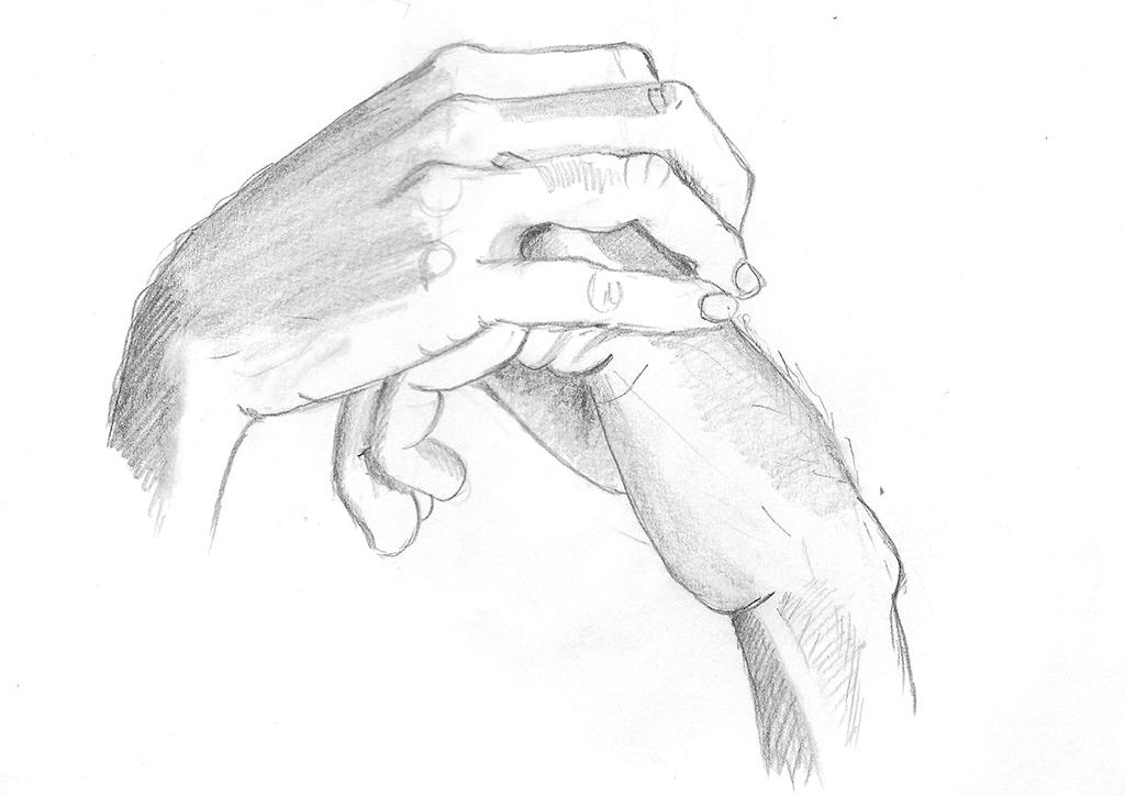Observasjonstegning av to hender