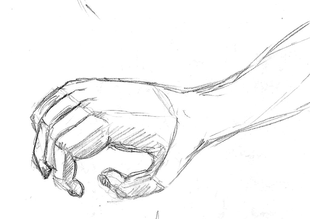 Skisse, forestillingstegning av en hånd