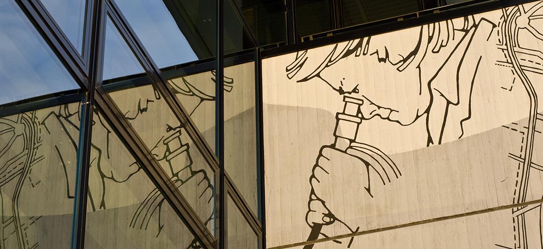 Arkitekturutsnitt fra Kjeller.