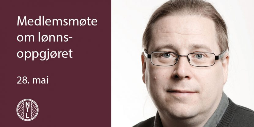 Foto av Thomas Sandvik og tekst om møtet.
