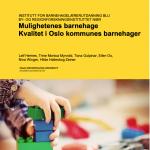 Forside rapport Mulighetenes barnehage