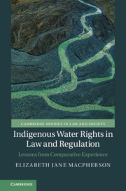 Indigenous water rights in law and regulation, book