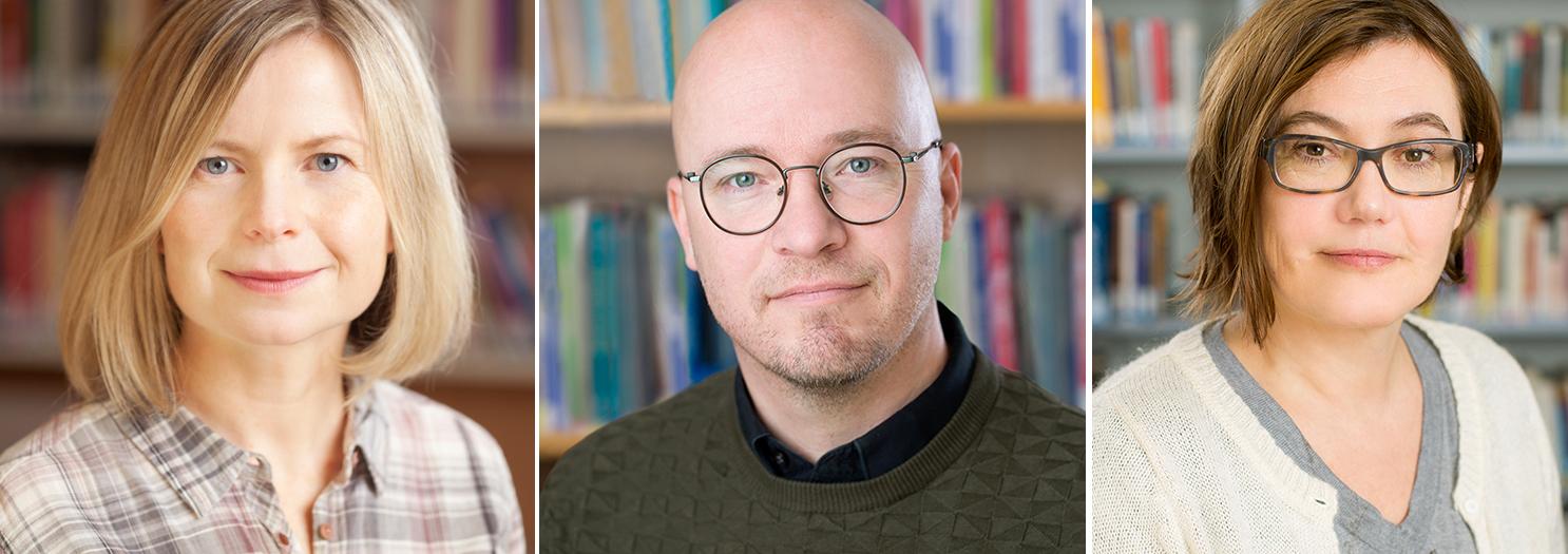 Foto av Ingrid Smette, Christer Hyggen og Anja Bredal