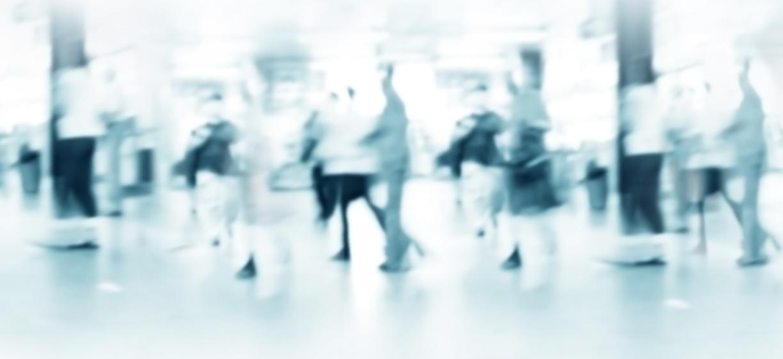 Illustration, blurry people. Phto: colourbox.com